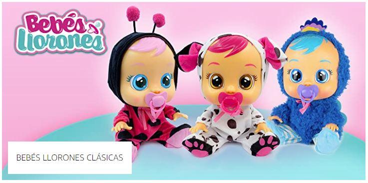 muñecas bebes llorones clasicas