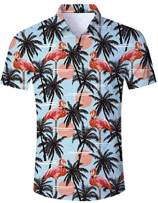 camisas hawaianas hombre manga corta