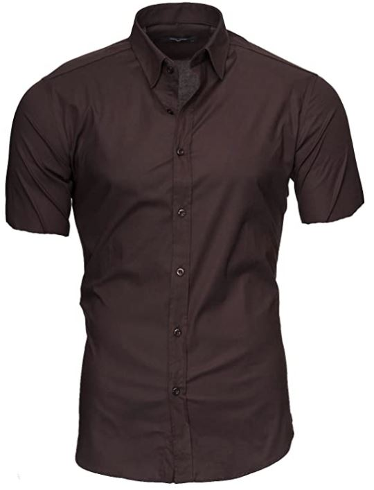 camisas hombre manga corta ajustada