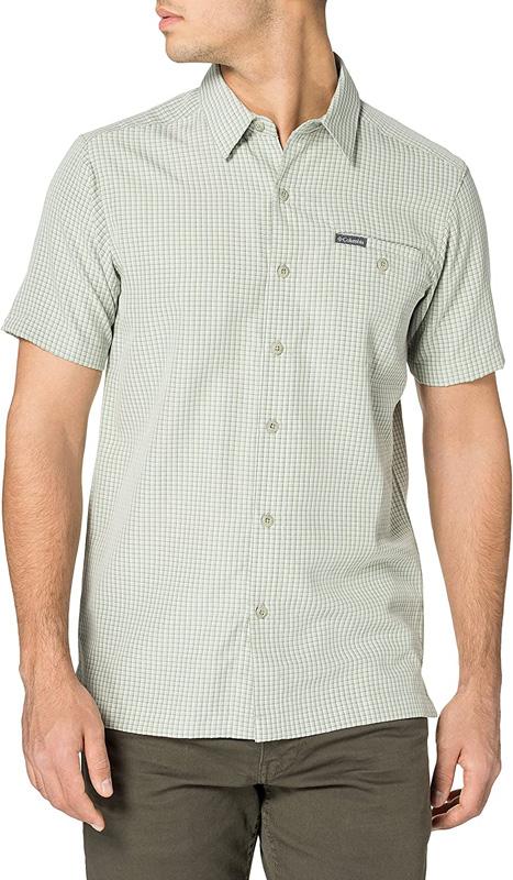 camisa hombre columbia manga corta en rebajas